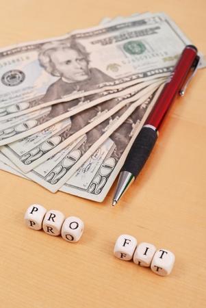 residual income: Profits Stock Photo