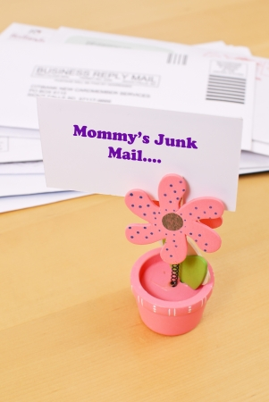 Moms Junk Mail Stock Photo - 17689474