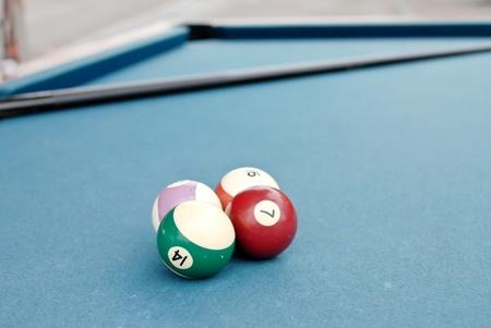 hustler: Playing Billiards Stock Photo