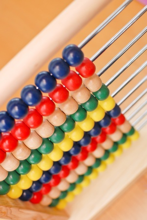 Top Angle of Wooden Abacus photo