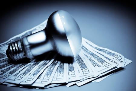 Budget Smart met uw energierekening Stockfoto