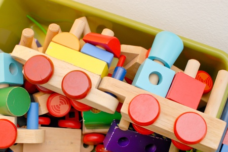 daycare: Wooden Train Toys Blocks