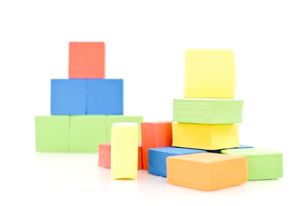 Playing with Toy Blocks photo