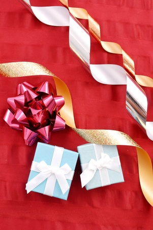 Christmas Gifts and Ribbons photo