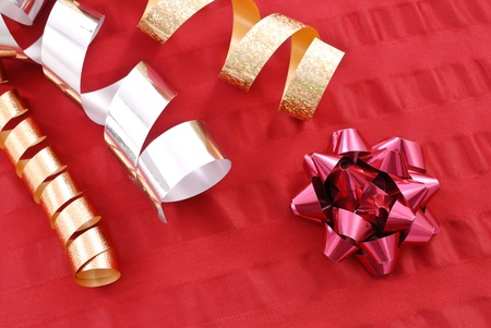Ribbons and Red Christmas Bow