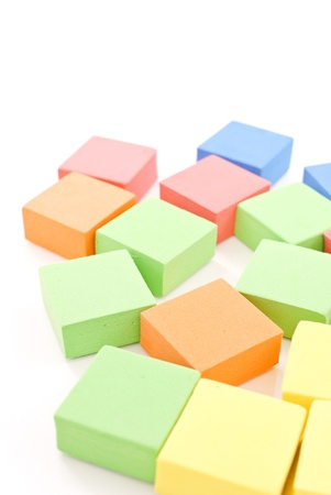 Scattered toy Blocks photo