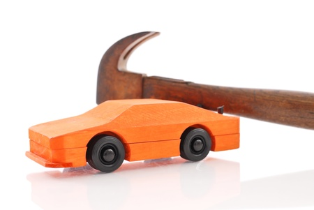 Building a Wooden Race Car  photo