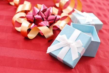 Christmas Gift Wrapping Concept photo