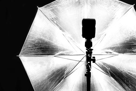 Met behulp van fotografie Studio verlichting Stockfoto