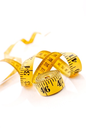 weight reduction plan: Weightloss Tape Measure Stock Photo