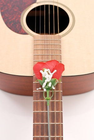 art lessons: Rose and Guitar