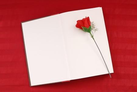 Writing a Romance Novel Stock Photo
