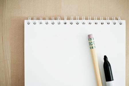 calender: Writing a Memo Stock Photo