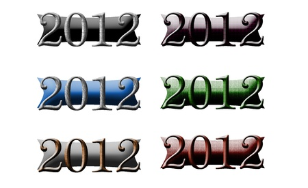 2012 New Year Icon Logos photo