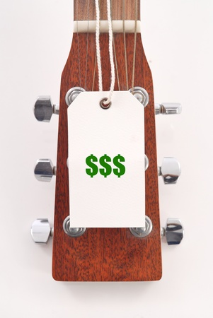 Price Tag on Guitar Head photo