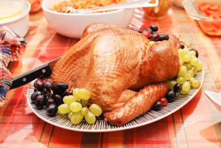 thankful: Turkey Dinner Stock Photo