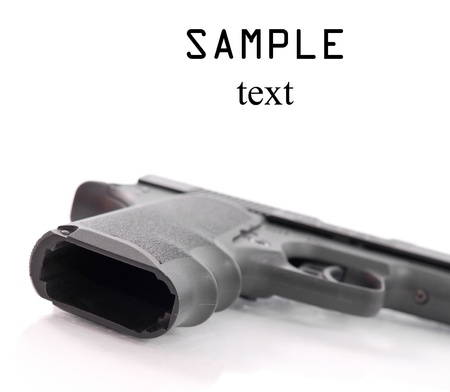 Unloaded Hand Gun with Space for Text photo
