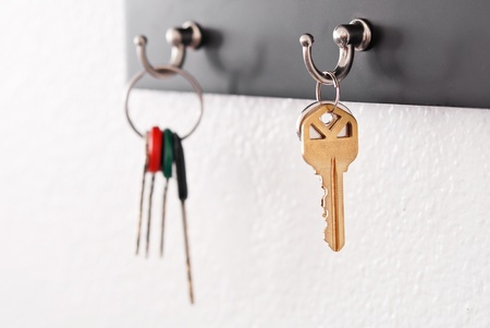 Keys Hanging From Hooks photo