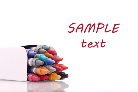 Crayons with Space for Text Stock Photo - 11536472