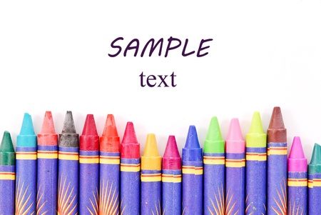 Crayons with Custom Space Stock Photo - 11536456