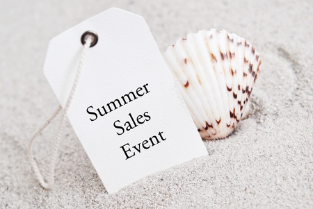 summer sale: Summer Sales Event Tag with Shell