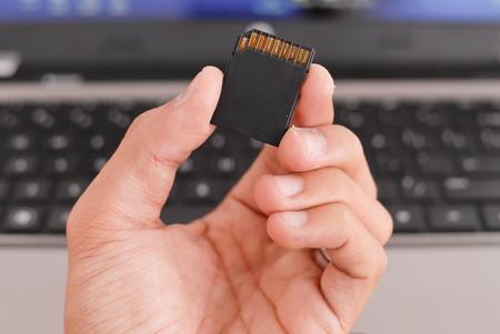 terabyte: Hand Holding a Camera Memory Card