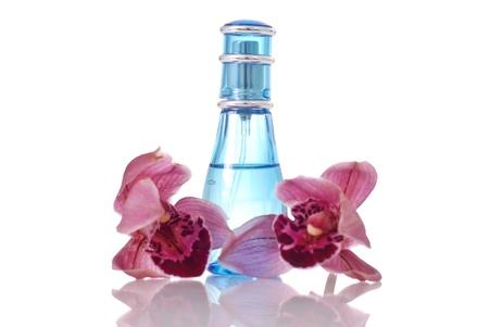 designer: Bottle of Perfume Stock Photo