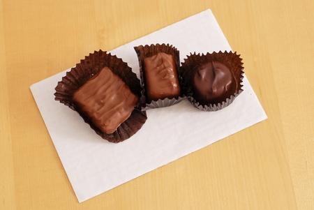 3 Chocolate Candies Stock Photo - 12027920