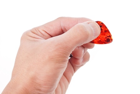 guitar pick: Hand Holding a Guitar Pick