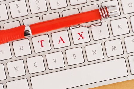 returns: TAX Spelled out on Keyboard