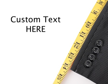 Pak Tailoring met Custom ruimte voor tekst Stockfoto