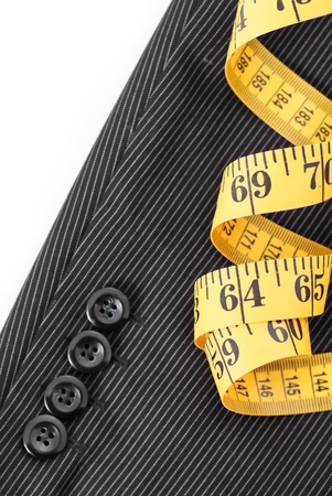 the sleeve: Tape Measure on Business suit Sleeve