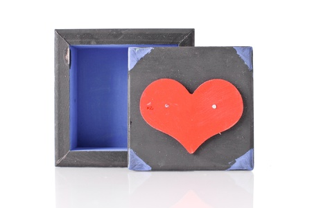 Red Heart Box Top Stock Photo - 12438477