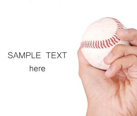baseball pitcher: Baseball in Hand