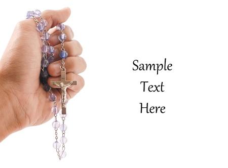 różaniec: Ręka z Wyznaniowej Różańcowej z miejsca na tekst