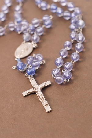 Rosary on Bible Cover Stock Photo - 12730380