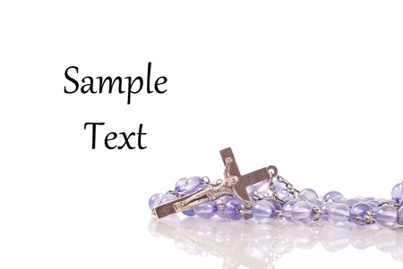 Rosary with Space for Custom Text Stock Photo