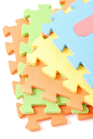 staggered: Staggered Arrangement of Foam Toys