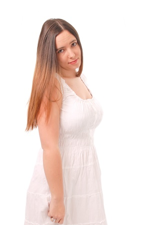 smirk: Portrait of a Young Caucasian Female