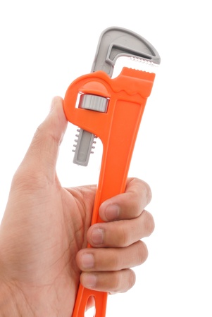 Hand with Wrench Stock Photo - 12730561