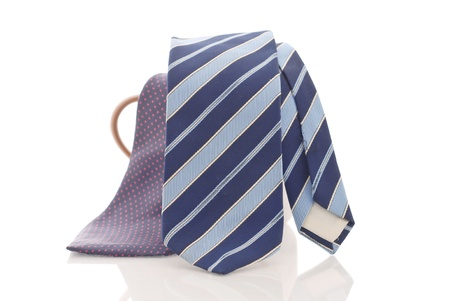 Blue Striped Business Tie