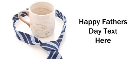 tiring: Happy Fathers Day Concept Image with Tie around a Coffee Cup
