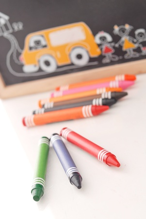Red Green and Blue Crayons