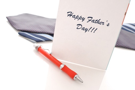 Fathers Day Card with Pen and Neck Ties