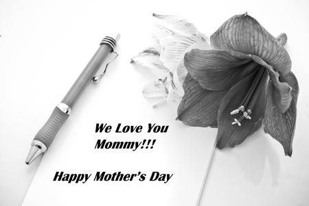Imagen conceptual en blanco y negro para el feriado del D�a de las Madres Foto de archivo - 13174875