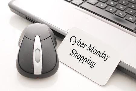 Online winkelen op Cyber Monday Stockfoto