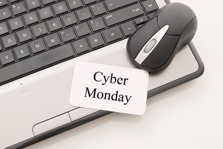 Cyber Monday Note with Mouse and Computer Stock Photo - 13317204