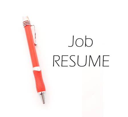 laidoff: Working on Your Resume Stock Photo
