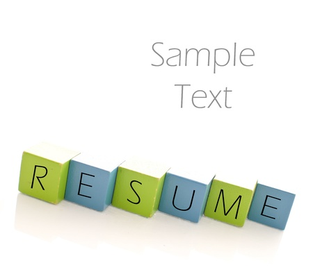 Putting Together the Perfect Resume Stock Photo - 13534145