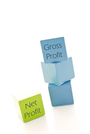 residual income: Net and Gross Profits Stock Photo